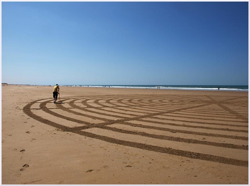 Fresque Beach art Spirale, Michel Jobard
