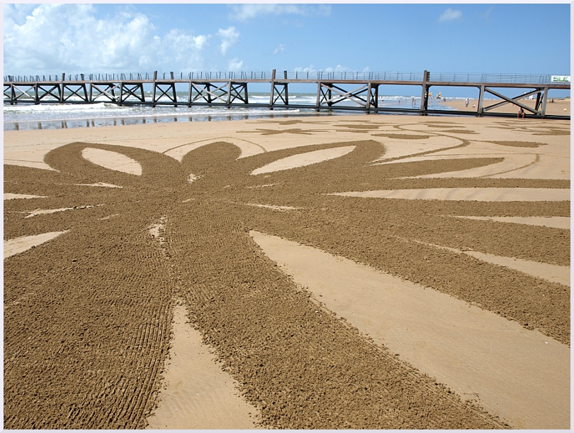Fresque Beach art A fleur de sable, Michel Jobard