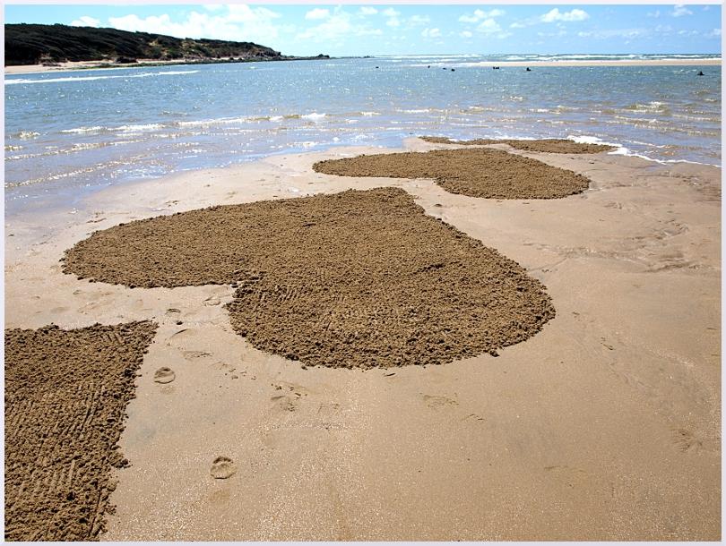 Fresque Beach art Coeurs au Veillon, Michel Jobard