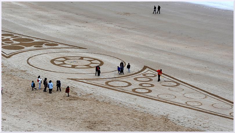 Fresque Beach art Matelots de la vie, Michel Jobard
