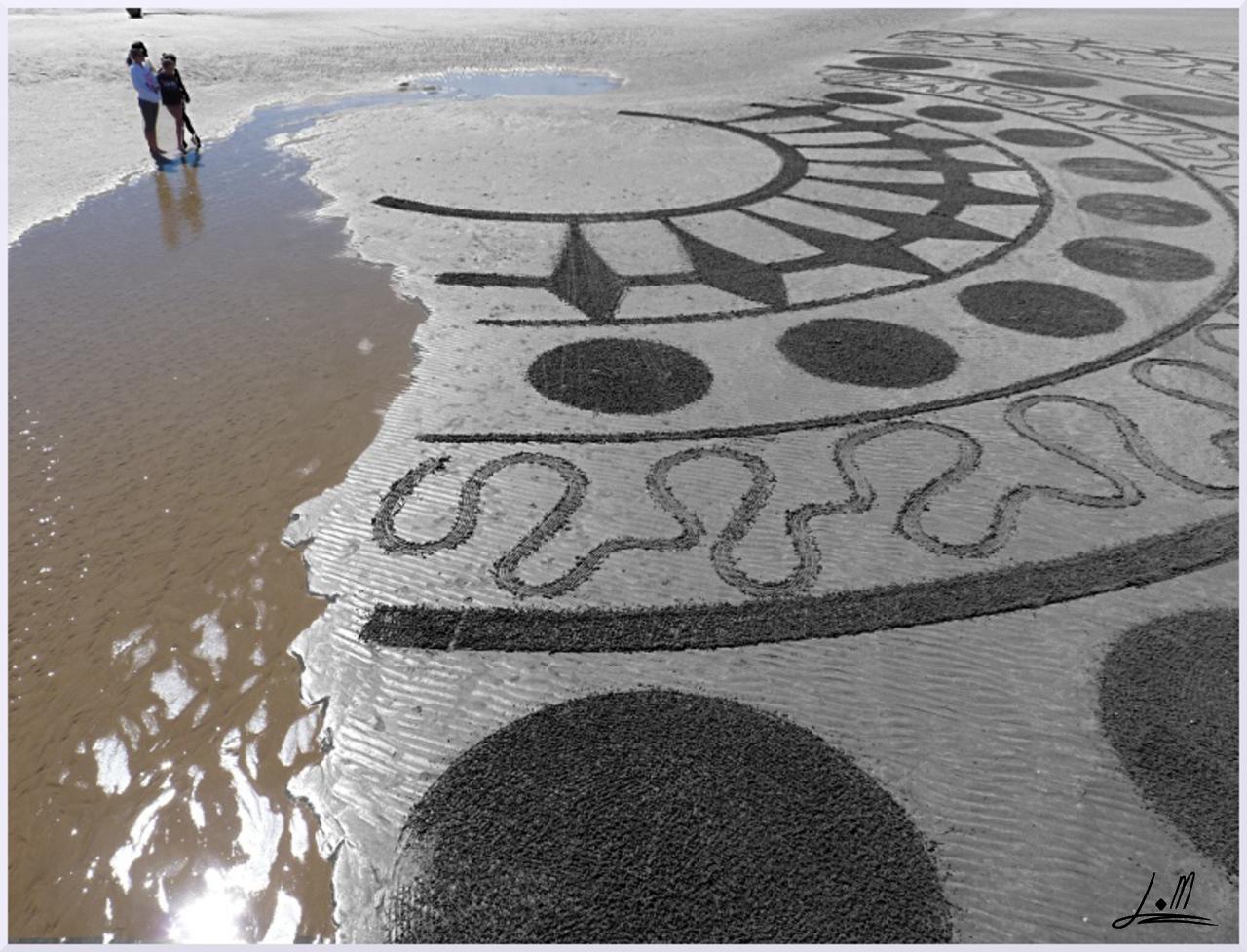 Fresque Beach art Native, Michel Jobard