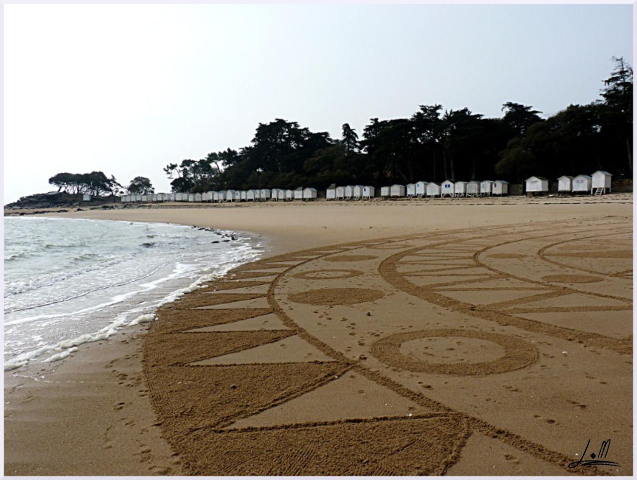 Fresque Beach art Plage des dames, Michel Jobard