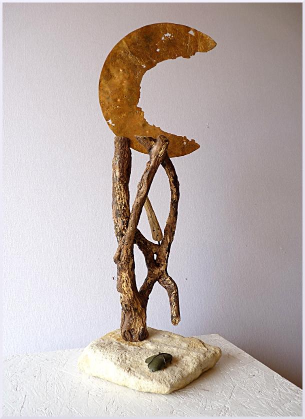 sculpture décrocher la lune