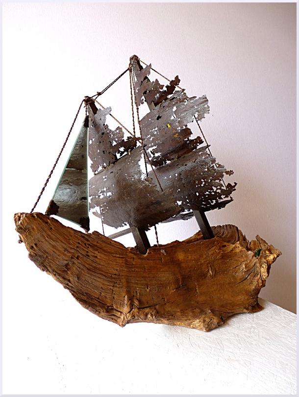 Sculpture Le galion, Michel Jobard