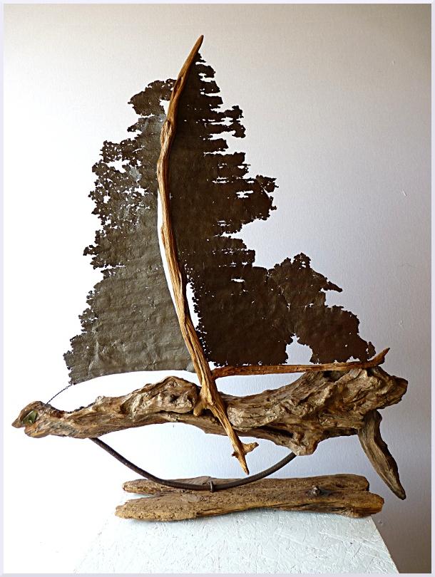 Sculpture Le vaisseau fantôme, Michel Jobard