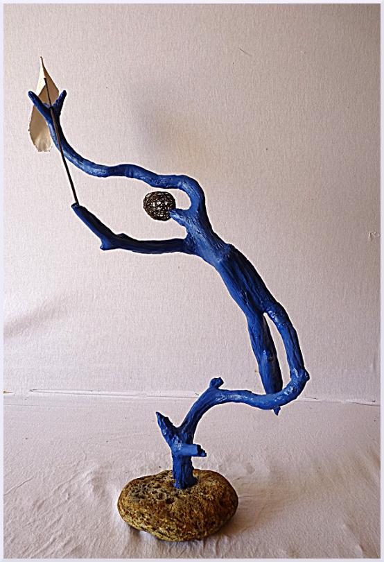 Sculpture Le monde des zomms, Michel Jobard