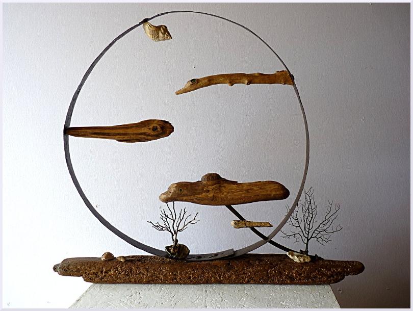 Sculpture Poisson de lune, Michel Jobard