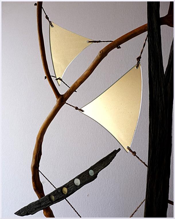 Sculpture Toutes voiles dehors, Michel Jobard